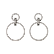 Pilgrim Silver Ariana Circle Earrings