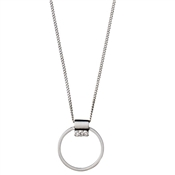 Pilgrim Silver Ariana Circle Necklace