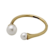 Pilgrim Gold Open Pearl Ring