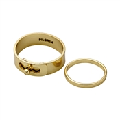 Pilgrim Gold Sophy Ring Set