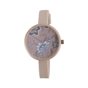 Pilgrim Pink & Rose Gold Floral Watch