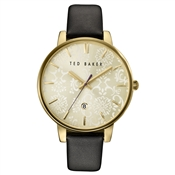 Ted Baker Black & Gold Dial Damask Watch