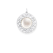 Thomas Sabo Mother of Pearl Hearts Pendant