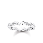 Thomas Sabo Filigree Floral Diamond Ring