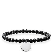 Thomas Sabo Black Obsidian Love Bridge Bracelet