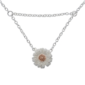 Olivia Burton Silver & Rose Gold Daisy Necklace