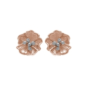Olivia Burton Rose Gold Poppy Stud Earrings