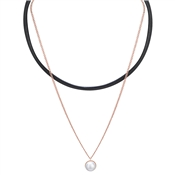 Dirty Ruby Pearl Choker Necklace