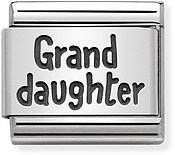 Silver Granddaughter Charm by Nomination