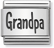 Nomination Silver Grandpa Charm
