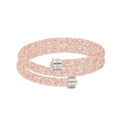 Swarovski Crystaldust Blush Pink Double Bangle (Small)