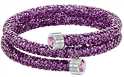 Swarovski Crystaldust Purple Double Bangle (M)