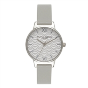 Olivia Burton Midi Dial Scallop Grey Watch