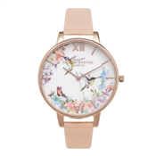 Olivia Burton Painterly Patterns Nude Watch