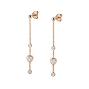 Nomination Rose Gold Bella Heart Drop Earrings
