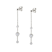 Nomination Silver Bella Heart Drop Earrings