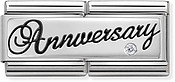 Nomination Silver Anniversary Double Plate Charm