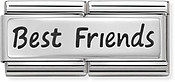 Nomination Silver Best Friends Double Plate Charm