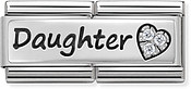 Silver Daughter Double Plate Charm by Nomination