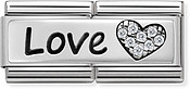 Nomination Silver Love Double Plate Charm