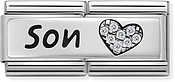 Nomination Silver Son Double Plate Charm
