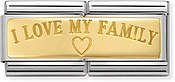 Nomination I Love My Family Double Plate Charm