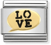 Nomination Love Speech Bubble Charm