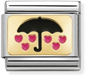 Nomination Falling Hearts Umbrella Charm
