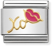 Nomination Fuchsia XO Lips Charm