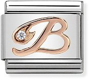 Nomination Rose Gold Letter B Charm