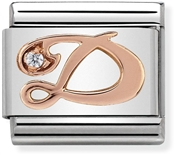 Nomination Rose Gold Letter D Charm
