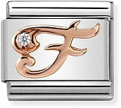 Nomination Rose Gold Letter F Charm