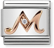 Nomination Rose Gold Letter M Charm