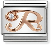 Nomination Rose Gold Letter R Charm