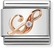 Nomination Rose Gold Letter S Charm