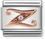 Nomination Rose Gold Letter Z Charm