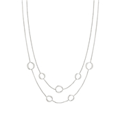 Nomination Silver Unica Layered Circle Necklace