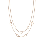 Nomination Rose Gold Unica Heart Layered Necklace