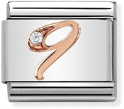 Nomination Rose Gold Number 9 Charm