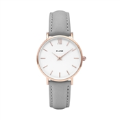 CLUSE Minuit Rose Gold & Grey Watch