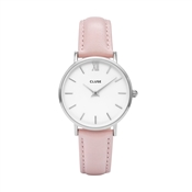 CLUSE Minuit Pink & Silver Watch
