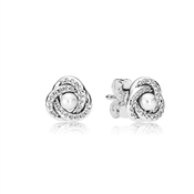 PANDORA Luminous Love Knots Stud Earrings
