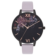 Olivia Burton After Dark Floral Grey Lilac Watch