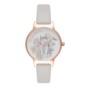 Olivia Burton Animal Motif Cat Blush & Rose Gold Watch