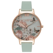 Olivia Burton Signature Floral Mint & Rose Gold Watch