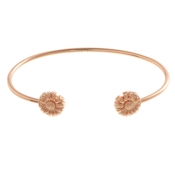 Olivia Burton Daisy Open Ended Rose Gold Bangle
