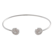 Olivia Burton Daisy Open Ended Silver Bangle