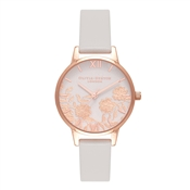 Olivia Burton Midi Lace Detail Blush & Rose Gold Watch