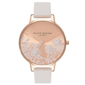 Olivia Burton Lace Detail Blush & Rose Gold Watch