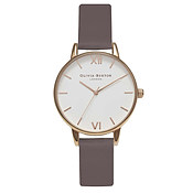 Olivia Burton Midi Dial Iced Coffee & Rose Gold Watch